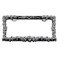 Chrome Skull License Plate Frame