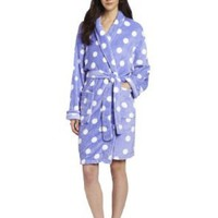 Seven Apparel Hotel Spa Collection Ladies Chic Printed Plush Bath Robes, Lavender Polka Dots:Amazon:Home & Kitchen