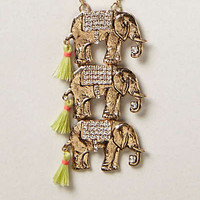 Anthropologie - Stacked Pachyderm Necklace