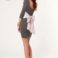 Two for the Bow Grey Dress