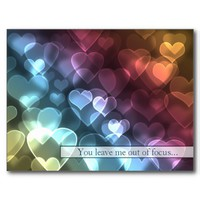 Bokeh Hearts Valentine Postcard from Zazzle.com