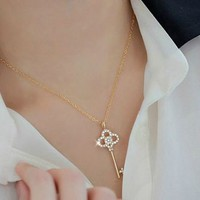 Golden Diamond Fashion Necklace | LilyFair Jewelry
