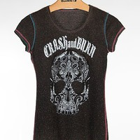 Crash & Burn Paisley Skull T-Shirt - Women's Shirts/Tops | Buckle