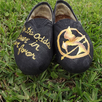 HUNGER GAMES Hand Painted Toms by pinstripesNparasols on Etsy