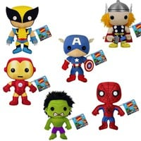 Classic Marvel Comic Book Plushies - Wolverine, Thor,  Spiderman, Iron Man, Hulk or Captain America - Whimsical & Unique Gift Ideas for the Coolest Gift Givers