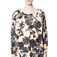 FLOWERS SWEATSHIRT - Sweatshirts - Woman - ZARA United States