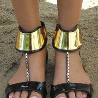 Black peeptoe sandal from Chockers Shoes
