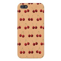 Cute cherry Pictures Pattern iPhone 5 Cases from Zazzle.com