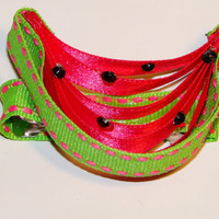 Adorable slice of watermelon ribbon sculpture by LizziesBowtique1