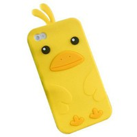 Yellow Cute Penguin Silicone Case Back Cover Protector for Iphone 4 4s:Amazon:Cell Phones & Accessories