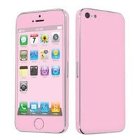 Apple iPhone 5 Full Body Vinyl Decal Protection Sticker Skin State Pink -By SkinGuardz:Amazon:Cell Phones & Accessories