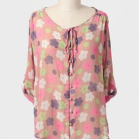 Flower Child Curvy Plus Blouse at ShopRuche.com