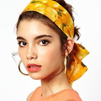 ASOS Fruit Scarf Hair Band at asos.com