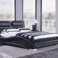 Napoli Modern Platform Bed-black (King):Amazon:Home & Kitchen