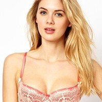Mimi Holliday Bisou Bisou L'Amour Lace & Satin Padded Bra at asos.com