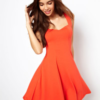 ASOS Sleeveless Skater Dress With Sweetheart Neck