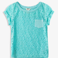 Patch Pocket Lace Tee | FOREVER21 girls - 2048413791