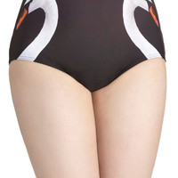 Swan Lakeshore Swimsuit Bottom | Mod Retro Vintage Bathing Suits | ModCloth.com
