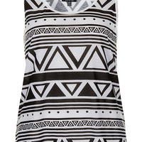 Mono Aztec Vest - Vests & Tanks - Jersey Tops - Clothing - Topshop USA