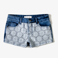 Lace Overlay Denim Shorts | FOREVER21 girls - 2050299659