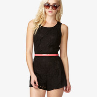 Sleeveless Lace Romper | FOREVER21 - 2014671821