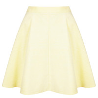 Lemon Baby Cord Skater Skirt - Topshop USA