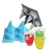 Amazon.com: Vktech Bar Summer Funny Ice Tray Ice Cube Cool Shark Fin Shape Freeze Ice Mould Maker: Kitchen & Dining