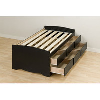 Black Twin 6-drawer Captain's Platform Storage Bed | Overstock.com