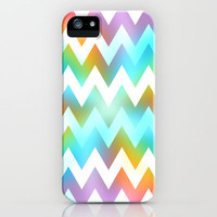 Rainbow Zigzag iPhone & iPod Case by Ornaart