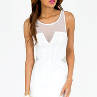 Falling Deep V Bodycon Dress $36