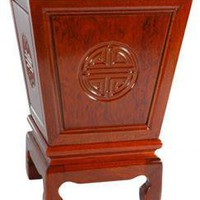 Rosewood Long Life Flower Container - OrientalFurniture.com