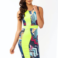 All-Mixed-Up-Sleeveless-Dress LIMEBLUE - GoJane.com