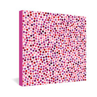 DENY Designs Home Accessories | Garima Dhawan Watercolor Dots Berry Gallery Wrapped Canvas