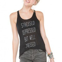 Brandy ♥ Melville |  Stressed Depressed But Well Dressed Tank - Just In