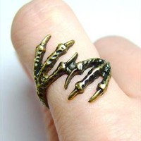Funky bird feet/ claws ring