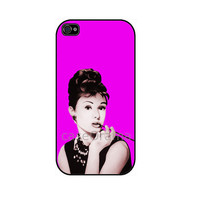 Audrey Hepburn iPhone 4 iPhone 4 case iPhone 4S case by caseOrama