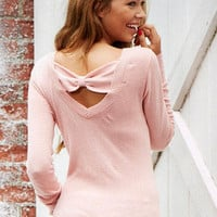 Bow Back Sweater Long-Sleeve