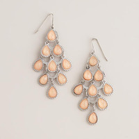 Peach Tiered Chandelier Earrings