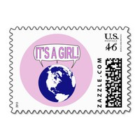 It's a Girl Postage Stamps from Zazzle.com