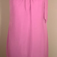 Banana Republic Dress 4 S SMALL Purple Shoulder Tie Shift Silk Lined
