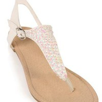 sequin top thong sandal - 1000042784 - debshops.com