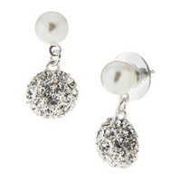 Pearl Double Drop Earring - Blanc