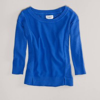 AE Pointelle Sweater | American Eagle Outfitters