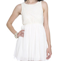 Lace Tulle Halter Dress | Shop Dresses at Wet Seal