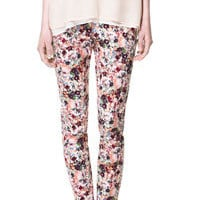 PRINTED CROPPED TROUSERS - Woman - New this week - ZARA United States
