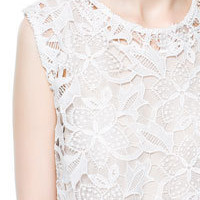 SHORT GUIPURE LACE TOP - Woman - New this week - ZARA United States