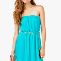 Hi Lo Chiffon Dress w/ Chain Belt