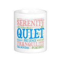 Coffee Mug,Wordart_Cloud_Serenity_2.png Mugs from Zazzle.com