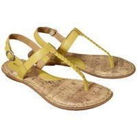 Women's Merona® Elysia Braided Upper Flat Sandal - Yellow