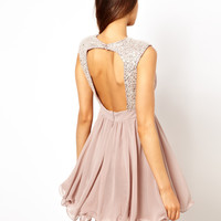 Lipsy VIP | Lipsy VIP Prom Dress with Embellished Shoulder at ASOS